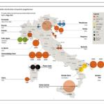 La mappa dell'Italia che va a carbone