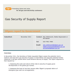 OFGEM Gas Security of Supply Report
