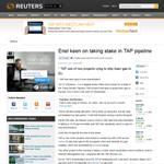 Enel keen on taking stake in TAP pipeline