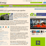 RWE set to quit Nabucco gas pipeline