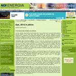 Gas, 2012 in pillole - Gionata Picchio - AgiEnergia