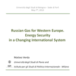 Russian Gas for Western Europe