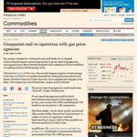 FT - Companies end co-operation with gas price agencies