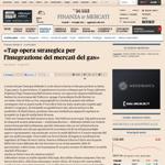 «Tap opera strategica per l'integrazione dei mercati del gas»
