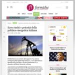 Ecco rischi e priorità della politica energetica italiana