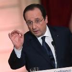 François Hollande - Ouverture de la conférence de presse du président de la République au Palais de l'Élysée le 14 janvier 2014