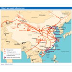 ZOOM - China's gas supply infrastructure