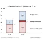 Composizione dell'offerta di gas naturale in Cina