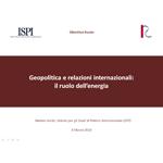 Geopolitica e relazioni internazionali: il ruolo dell'energia