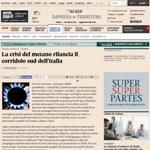 Sole24Ore - La crisi del metano rilancia il corridoio sud dell'Italia