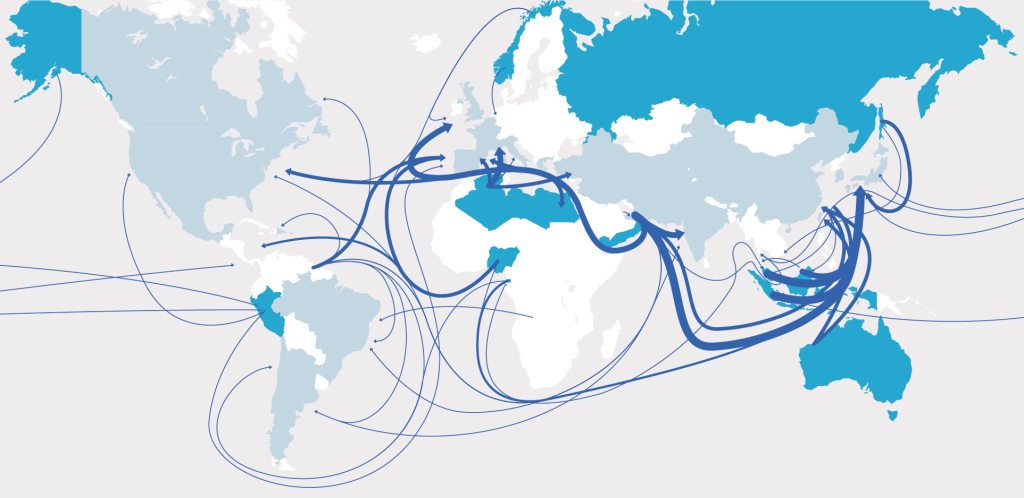 GIIGNL - The LNG in 2013 - Flows