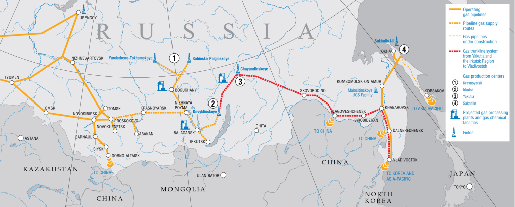 Gazprom - Developing gas resources and shaping gas transmission system in Eastern Russia - fonte: http://bit.ly/1jDmpis