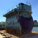 gCapitain - Engine to Power World's First Dual-Fuel Containership Delivered to Shipyard