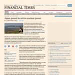 FT - Japan poised to revive nuclear power