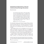 Nicolò Sartori - Geopolitical Implications of the US Unconventional Energy Revolution
