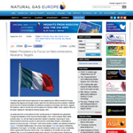 NGE - Italian Presidency to Focus on Interconnections, Neutral to Targets
