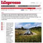 L'Espresso - Tap: tutti d'accordo, ma chi ci guadagna?