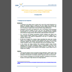 CEER Position on the European Commission Communication: European Energy Security Strategy [COM(2014)330] CEER Position on the European Commission Communication: European Energy Security Strategy [COM(2014)330]