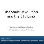 IWE - The Shale Revolution and the oil slump