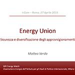 Energy Union: sicurezza e diversificazione degli approvvigionamenti