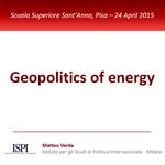 Geopolitics of energy