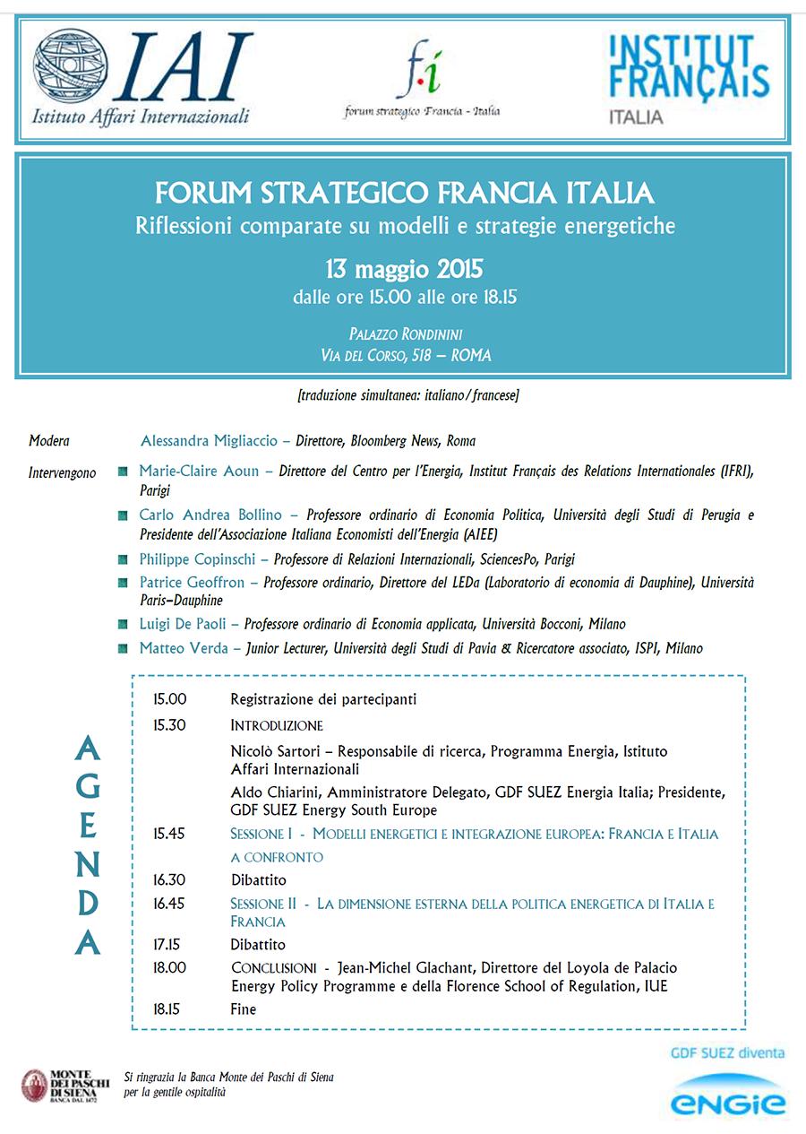Energia: Italia e Francia modelli a confronto
