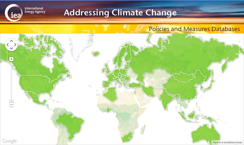 IEA - Addressing climate change: policies and measures datab