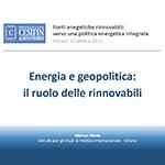 Energia e geopolitica: il ruolo delle rinnovabili