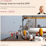 FT - Energy issues to watch in 2019